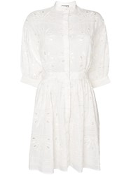 Paul And Joe Embroidered Shirt Dress White