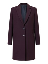 Jigsaw Compact Wool Coat Plum