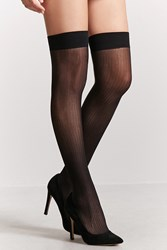 Forever 21 Stirrup Thigh High Tights Black