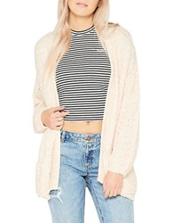 Miss Selfridge Slouchy Knitted Open Front Cardigan Pink
