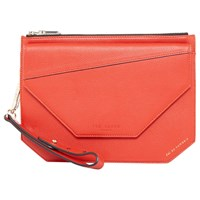 Ted Baker Colour By Numbers Cassis Leather Clutch Bag Red