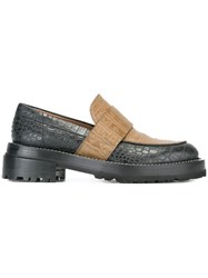 Marni Contrast Loafers Brown