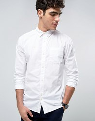 Bellfield Shirt In Washed Cotton In Regular Fit White