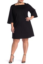 2192e86032b6 Lafayette 148 New York Square Neck Shift Dress Plus Size Black