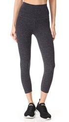 Beyond Yoga High Waist Capri Leggings Black Steel