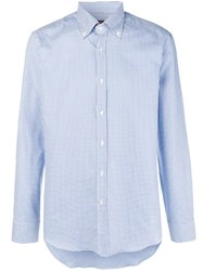 Massimo Piombo Mp Micro Check Shirt Blue