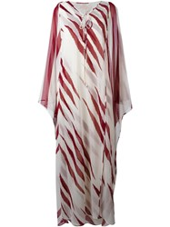 Tory Burch Long Kaftan Dress Nude Neutrals