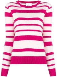 Allude Cashmere Round Neck Sweater Pink And Purple