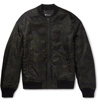Alexander Wang Camouflage Print Shell Bomber Jacket Army Green