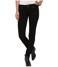 Rock And Roll Cowgirl Low Rise Skinny In Black W0s4519 Black Women's Jeans
