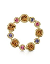 Forzieri Purple Pink And Orcher Crystals Bracelet