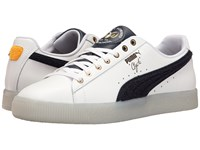 Puma Clyde Leather Bhm White New Navy Spectra Yellow Men's Shoes