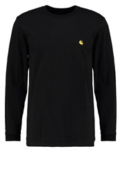 Carhartt Wip Chase Long Sleeved Top Black Gold