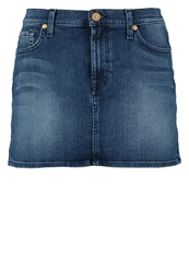 7 For All Mankind Mini Skirt Blue Blue Denim