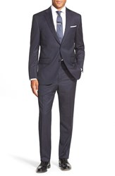 Men's Big And Tall Peter Millar Classic Fit Stripe Wool Suit Navy