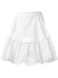 Alexander Mcqueen Broderie Anglaise Layer Skirt White