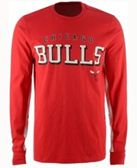 G3 Sports Men's Chicago Bulls Hands High Front Four Long Sleeve T Shirt Red White