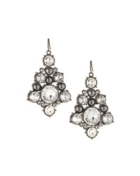 Crystal Octagon Drop Earrings St. John Collection