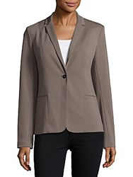 T Tahari Charlene Textured One Button Blazer Grey