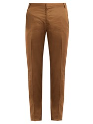 Lanvin Regular Fit Cotton Chino Trousers Camel