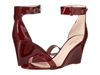Kate Spade Ronia Red Chestnut Patent Women's Shoes Brown