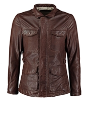 Esprit Leather Jacket Cacao Brown