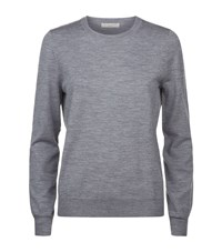Burberry Merino Wool Elbow Patch Sweater Female Grey