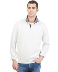 Nautica Quarter Zip Front Fleece Oatmeal Heather