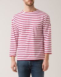 Armor Lux Red White 3 4 Sleeves Jersey Sailor Top