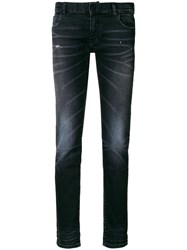 Faith Connexion Faded Stretch Skinny Jeans Black