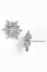 Louise Et Cie 'Micro Pave' Star Stud Earrings Rhodium Crystal