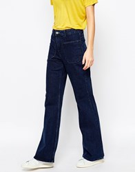 Weekday Flare Jeans With Pocket Detail Multi