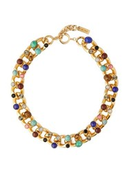 Etro Stone Charm And Chain Necklace Multi
