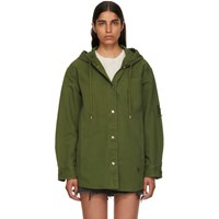 Alexander Wang T By Green Pajama Utility Hooded Jacket