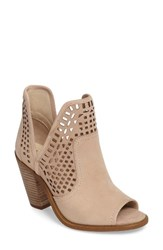 Jessica Simpson Women's Cherrell Open Toe Bootie Vanilla Cream Nubuck Leather