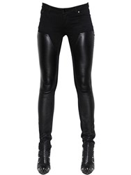 Givenchy Stretch Nappa Leather And Denim Jeans