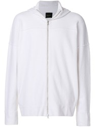 Roberto Collina Relaxed Fit Hoodie White
