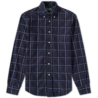 Gitman Brothers Vintage Japanese Indigo Check Shirt Blue