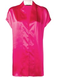 Haider Ackermann V Neck Blouse Pink
