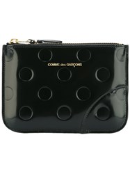 Comme Des Garcons Wallet 'Polka Dots Embossed' Wallet Black