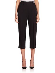 Red Valentino High Waist Cropped Wool Jersey Pants Black