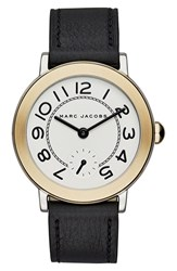 Marc Jacobs Women's 'Riley' Leather Strap Watch 36Mm