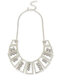 Inc International Concepts M. Haskell For Geometric Statement Necklace Only At Macy's Silver