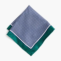 J.Crew Silk Pocket Square In Houndstooth