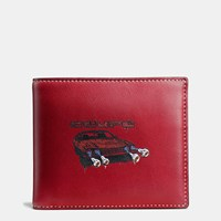 Coach 3 In 1 Wallet In Wild Car Print Leather Cardinal
