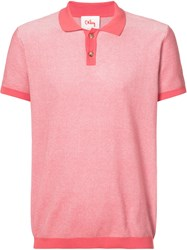 Orley Micro Stitch Polo Shirt Men Cotton M Red