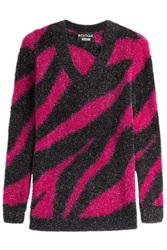 Boutique Moschino Zebra Print Pullover Pink