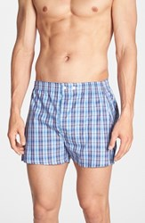 Nordstrom Men's Big And Tall Men's Shop Classic Fit Cotton Boxers Blue Red