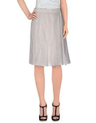 Hache Skirts Knee Length Skirts Women White