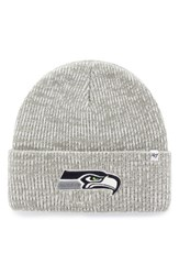 47 Brand Men's Nfl Brainfreeze Knit Beanie Grey Seahawks Beanie